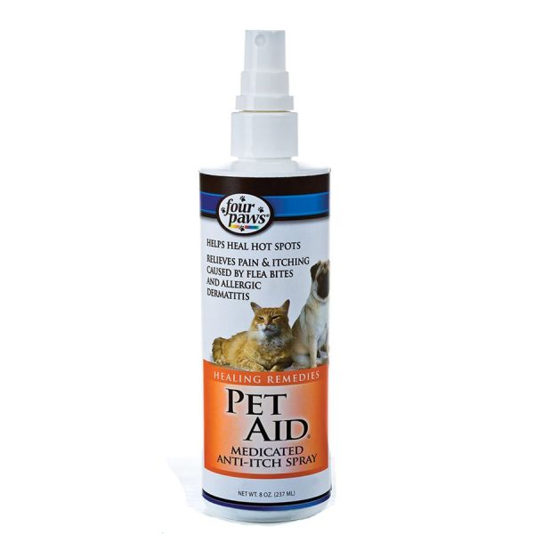 Four Paws Pet Aid Med Anti-Itch Spray 8oz FP202115