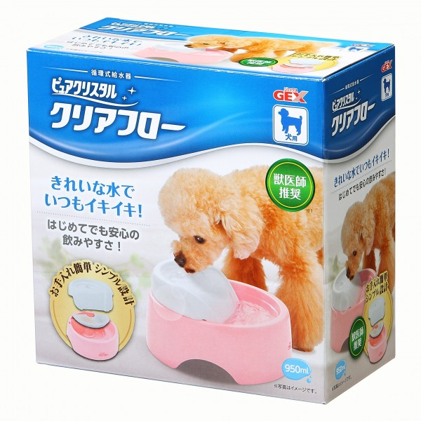 GEX-Pet Pure Crystal Cage (Clear Flow) DOG Pink GX923936