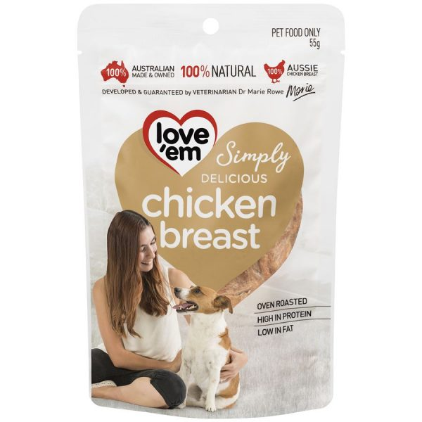 Love'em Chicken Breast for DOGS – 55g LE501