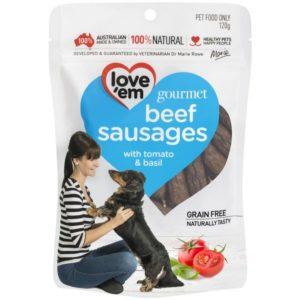 Love'em Gourmet BEEF Sausages – 120g LE521