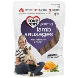 Love'em Gourmet LAMB Sausages – 120g LE522