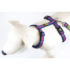 Max & Molly Hampton Strip Blue Harness L MM135016