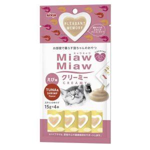 Miaw Miaw Creamy Tuna w/Shrimp Flavour 15g x 4 AXMMCM3