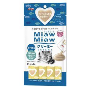 Miaw Miaw Creamy Tuna w/Smoked Tuna Flavour 15g x 4 AXMMCM4